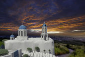 Greek Architecture with bule sky for adv or others purpose use — Stock Photo