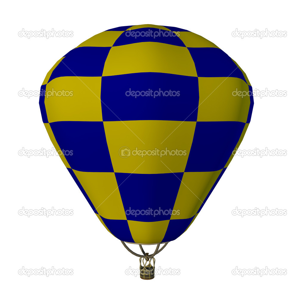 Hot air balloon, isolated against background  Stock Photo #11392166