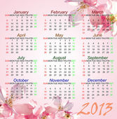 Pink style Calendar of 2013 — Stock Photo