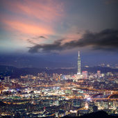 Night scenes of the Taipei city — Stock Photo