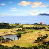 Overhead view of bali golf course, Taiwan — Stock Photo