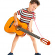 Little boy plays guitar country style — Stock Photo #11074704