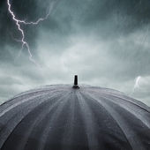 Rain and thunderstorm — Stock Photo