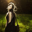 Romantic fashion woman — Stockfoto