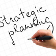 Strategic Planning Handwritten — Foto Stock