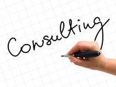 Consulting Handwritten — Foto Stock