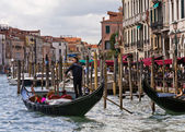 Venice Gondoliers — Stock Photo