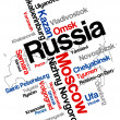 Russia map and cities — Imagen vectorial