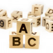 ABC Letter Blocks — Stock Photo