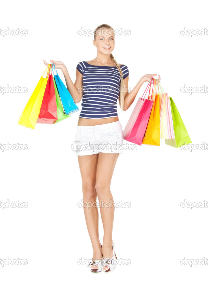 Picture of lovely woman with shopping bags — Stock Photo #10749993