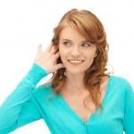 Teenage girl listening gossip — Stock Photo #11217515