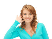 Teenage girl listening gossip — Stock Photo