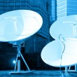 Parabolic satellite dish receivers — Stockfoto