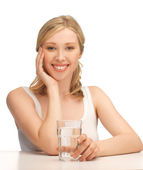 Woman with glass of water — Stock Photo