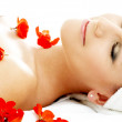 Red flower petals spa — Stock Photo #11757077