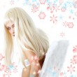 Winter angel with snowflakes — Stock Photo #11757158