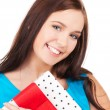Happy girl with gift box — Stock Photo #11757527