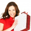 Happy woman with gift box — Stock Photo #11757529