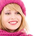 Happy teenage girl in hat — Stock Photo #11757598