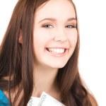Lovely teenage girl with money — Stock Photo #11757719