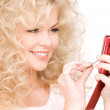 Happy woman with cell phone — Stock Photo #11758648