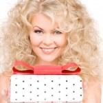 Happy girl with gift box — Stock Photo #11758904