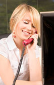 Office girl — Stockfoto