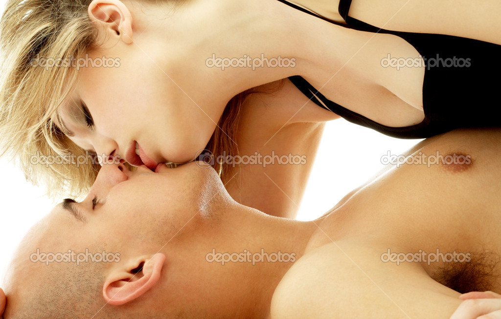 Intimate color image of sensual couple foreplay — Stock Photo #11757205