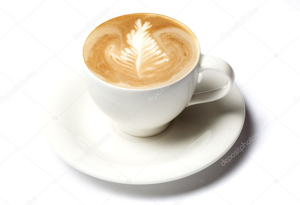 Professional barista coffee cup isolated over white — Stock Photo #11757777