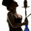 Woman with hookah — Stock Photo #11760704