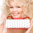 Happy girl with gift box — Stock Photo #11761702