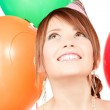 Party girl with balloons — Stock Photo #11761941