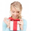 Happy girl with gift box — Stock Photo #11762218