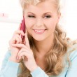 Lovely woman with cell phone — Stock Photo #11762283