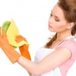 Housewife washing dish — Stock Photo #11762653