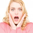 Surprised woman face — Stock Photo #11763487