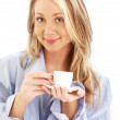 Blond with cup of coffee — Stock Photo #11764185
