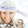 Winter girl with snowflakes — Stock Photo #11764368