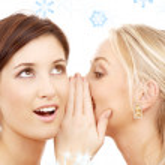 Christmas gossip — Stock Photo