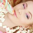Stock Photo: Candy girl