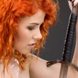 Redhead warrior - Stock Photo