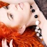 Curly redhead beauty — Stock Photo #11766322