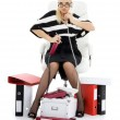 Businesswoman in chair — Stock Photo