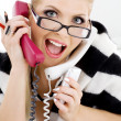 Screaming businesswoman — Stock Photo #11766415