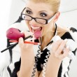 Screaming businesswoman — Stock Photo