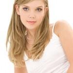 Blonde in white cotton underwear — Stock Photo #11766518