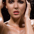Stockfoto: Brunette girl in water