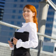Royalty-Free Stock Photo: Happy businesswoman