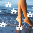 Royalty-Free Stock Photo: Day at the beach puzzle