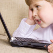 Communicative youngster — Stock Photo